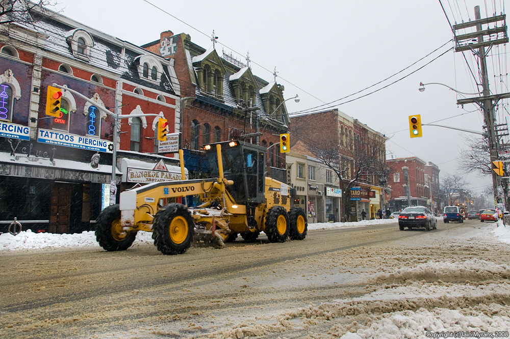 photoblog image Plowing West Queen West