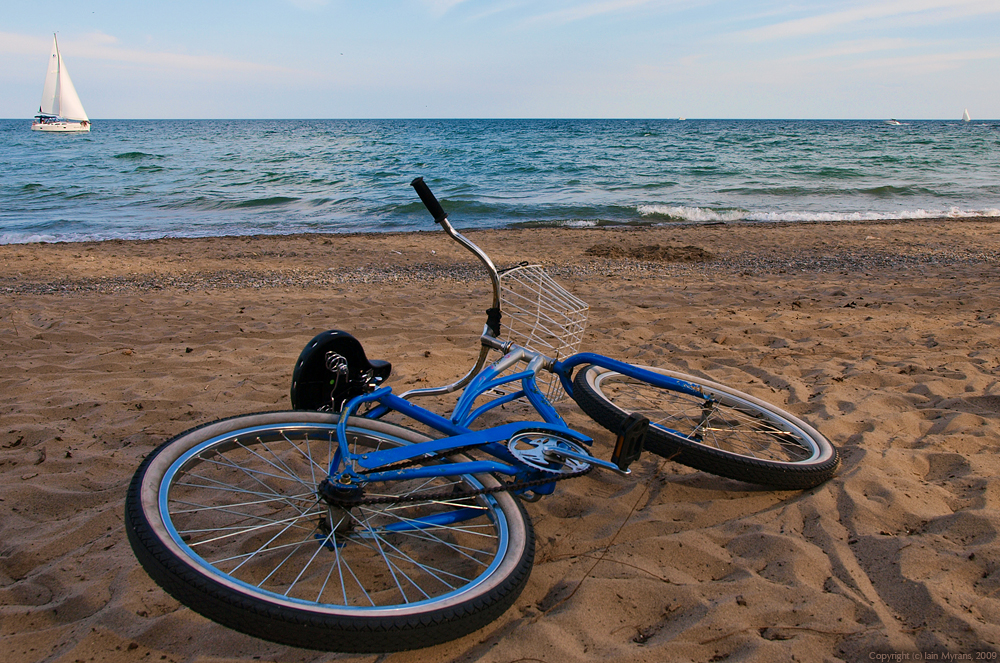 photoblog image Bikes on the Beach II