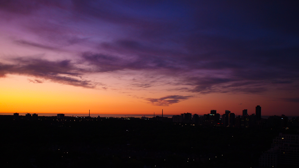 photoblog image Sun Rising Over Toronto's East End
