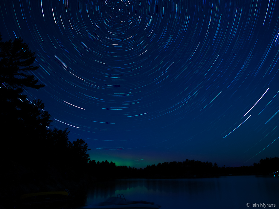 photoblog image Startrails over Georgian Bay