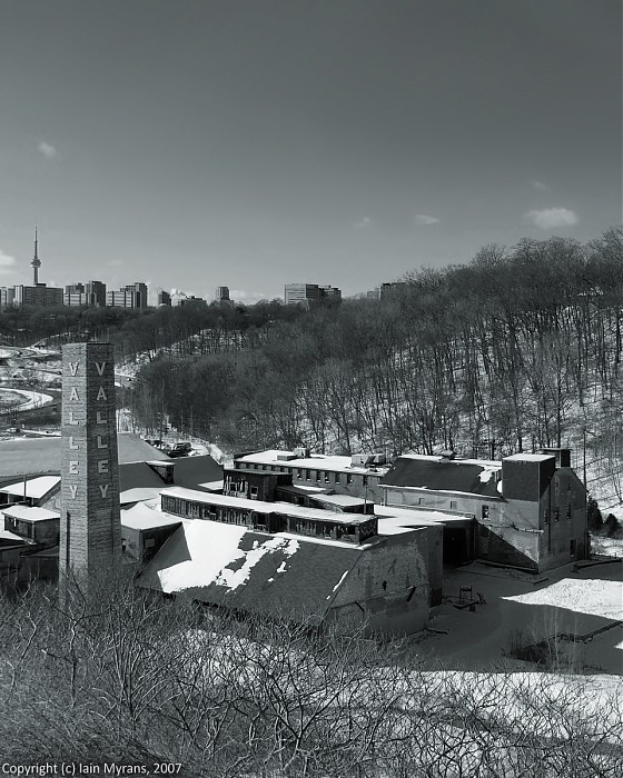 photoblog image Brickworks in Winter V: From the Lookout